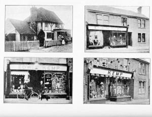 Kemp's Shop. Top Row: 1897 & 1902 Bottom Row: 1911 & 1937