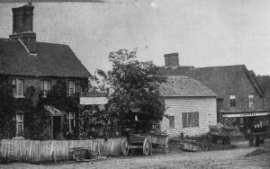 Rose Villa, Wheelwrights and Lindridge's shop